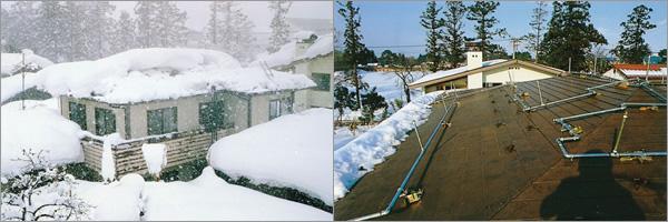 屋根融雪システム「レインルーフ」