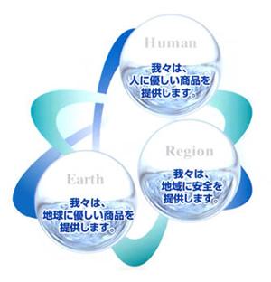 水の恵みと生活環境を見つめる企業として
