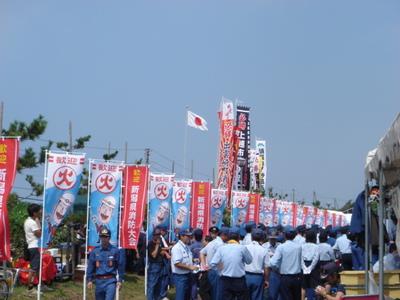2013県操法大会のぼり2.JPG